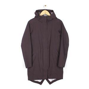 Lululemon Womens Plum Purple Full Zip Hooded Rain Coat - Size 4