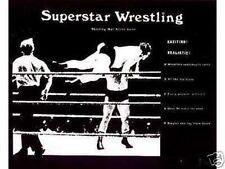 Superstar Wrestling Vintage Board Game with Wrestlers of the 1980s