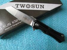Twosun MINI M390 Titanium Fast Open Pocket Folding Knife FireAnt TS41-StoneWash