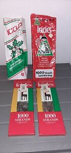 Vintage Tinsel Icicles Lot Of 4 New In Box For Christmas Tree 5000 Strands