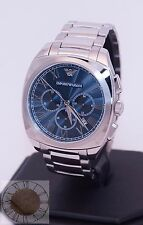 Emporio Armani Men's Chronograph Stainless Steel Watch AR1938, New