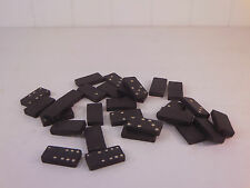 Vintage Set of 25 Embossed Indian Head Dominoes Rare Unusual VS6 B4