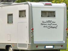 Aufkleber Wohnwagen Wohnmobil Caravan Camper Auto Spruch Reisen Sterben Erbe 105