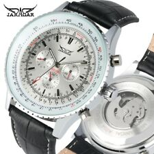 Men Watch Auto Mechanical Wrist Watch for Mens Leather Strap Militray Pilot Gift