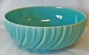 """Coronado Glossy Aqua 10"""" Large Salad Serving Bowl Gladding McBean Franciscan"""
