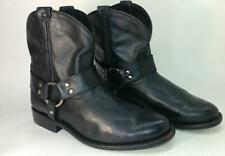 FRYE Wyatt Harness Leather Short ANKLE Boots booties 6M black leather riding