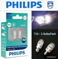 Genuine PHILIPS T10 Ultinon LED W5W 11961 Position Interior White Lamp x2 #Agtc