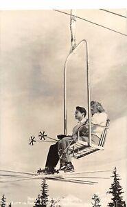 H65/ Berthoud Pass Colorado RPPC Postcard c1950s Ski Chair Lift Sanborn 71