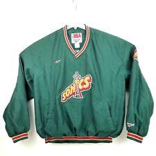 Rare Vintage Seattle Supersonics Sonics Jacket NBA Official Reebok XL 1996-2001