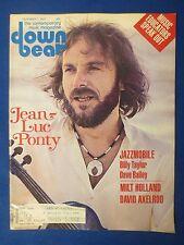 DOWN BEAT MAGAZINE DECEMBER 1 1977 JEAN LUC PONTY BILLY TAYLOR DAVE BAILEY