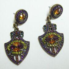 HEIDI DAUS Colorful Rhinestone Dangle Earrings