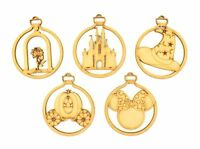 Disney Themed Magic Christmas Craft Wooden MDF Bauble Decorations - Set of 5