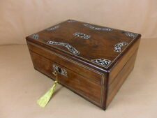 ANTIQUE  WILLIAM IV/EARLY VIC  ROSEWOOD JEWELLERY/SEWING  BOX.C1830-1840(Cd 424)
