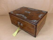 Antico Guglielmo IV/inizio VIC gioielli in palissandro/Cucito BOX.C1830-1840 (CD 424)