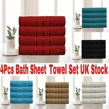 2x 4x Large Jumbo Bath Sheets 100% Egyptian Combed Cotton Big Towels Big Bargain