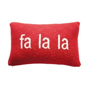 Creative Co-op - Fa La La Cotton Knit Lumbar Pillow  - XM7361