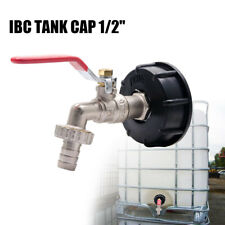 """IBC Tank Adapter S60X6 Brass Garden Tap With 1/2"""" Hose Fitting Oil Fuel Water"""