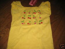 NWT Gymboree CHERRY BABY Yellow Shirt,Top Girls sz 7