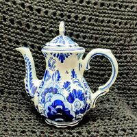 VINTAGE DELFTS BLAUW 212 CHINA TEA/Coffee POT FLOW BLUE HOLLAND