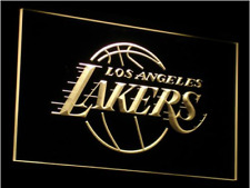 New Custom Los Angeles Lakers LED Neon Light Signs Bar Man Cave 7 colors u pick