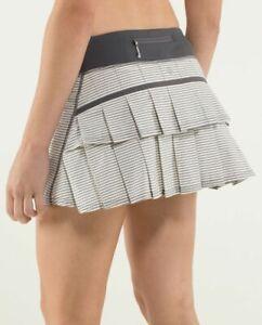 NWT - Lululemon Run: Pace Setter Skirt (Regular) Hyper Stripe Angel Wing 2,4,6,8