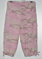 TEDDY'S CHOICE Size 12 Months Pink Camouflage Pull-On Cargo Pants