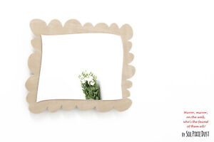 Safety Mirror Rectangle Frame with LED light - Wall Decor - Nursery Kid Mirror