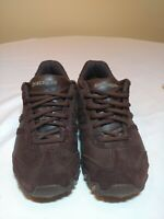 Skechers SN 46416 Chocolate Women's Relaxed Leather Step Walking Shoes Size 8