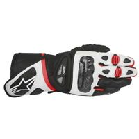 Alpinestars SP-1 Leather Motorcycle Motorbike Sports Gloves Black White Red