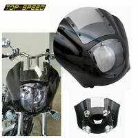 Clear Quarter Headlight Fairing Windshield For Harley Sportster XL 883 1200 Dyna