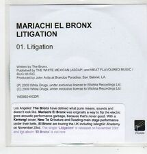 (FL42) Mariachi El Bronx, Litigation - 2009 DJ CD