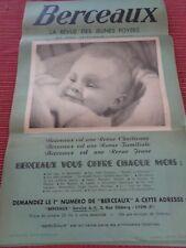 AFFICHE ANCIENNE POUR JEUNE MAMAN / BERCEAUX - ENFANTS - REVUE CHRETIENNE ( 59)