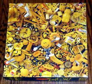 Vintage Springbok Presenting Yellow 500 Piece Puzzle - Mr. Peanut, Crayola, +++