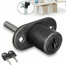 Zinc Alloy Drawer Lock Door Desk File Cabinet Cupboard Pedestal Locker 2 Keys