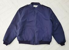 New Pooleys Flying Jacket Navy Blue Size 46 Padded Bomber Jacket Aviator