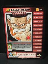 DBZ CCG ANDROID 20 THE DOCTOR LV2 STARTER RARE 186 CELL SAGA SCORE DRAGON BALL Z
