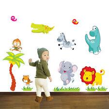 Wandtattoo Kinderzimmer süsse Tiere Dino Zoo Affe Löwe Wandsticker Dinosaurier