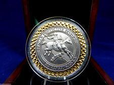 PRESIDENT RONALD REAGEN U.S. SECRET SERVICE PROTECTIVE DIVISION COIN-IN WOOD BOX