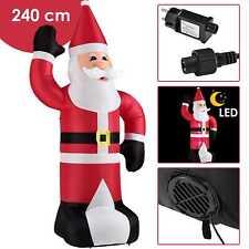 Weihnachtsmann aufblasbar Santa Claus leuchtend 244 cm Großer Nikolaus Deko