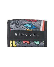 Rip Curl Mens Wallet. Surf Trifold Crochet Boucle d'Argent Carte Pièce Note main 8 S A4 90