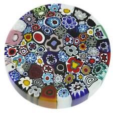GlassOfVenice Murano Glass Millefiori Round Paperweight - Large