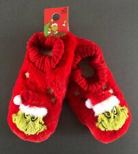 Der Grinch Damen Hausschuhe Plüsch Pantoffeln ABS Socken 36-37-38 39-40-41-42
