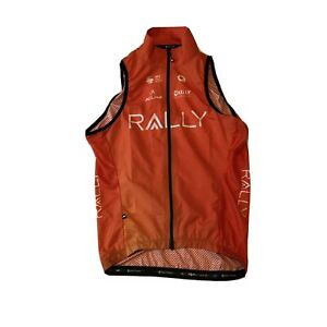 New 2020 Men's Pactimo Rally Pro Cycling Divide Wind Vest, Orange, Size Medium