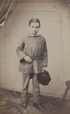 Jeune garçon Carte de visite Cdv Photo Vintage Albumine c1860