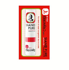 3 Pcs X 2 CC Siang Pure Nasal Inhaler for Relief Vertigo Natural Herbal