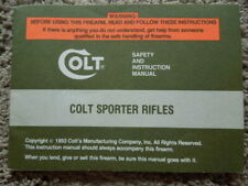 Original Colt Sporter Rifles Factory Safety And Instruction Manual 1993