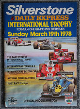 Silverstone 19 March 1978 International Trophy F3 Lauda Peterson Andretti Hunt
