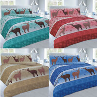 Stag Fawn Christmas Duvet Covers Set Pillow cases Single Double Super King
