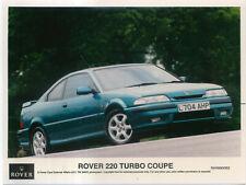 Rover 220 Turbo Coupe Original Colour Press Photograph 1993