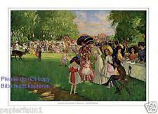 Schulfest im Tiergarten Hannover XL Kusntdruck 1911 von Rudolf Weber † Peine